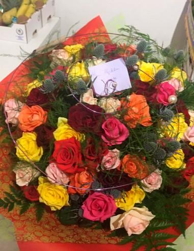 Ramo 36 rosas o gerberas