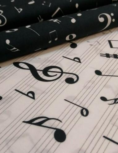 Tela de algodón de Música